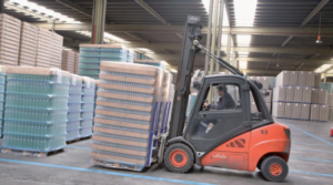 Fork Lift Driver with Pallets